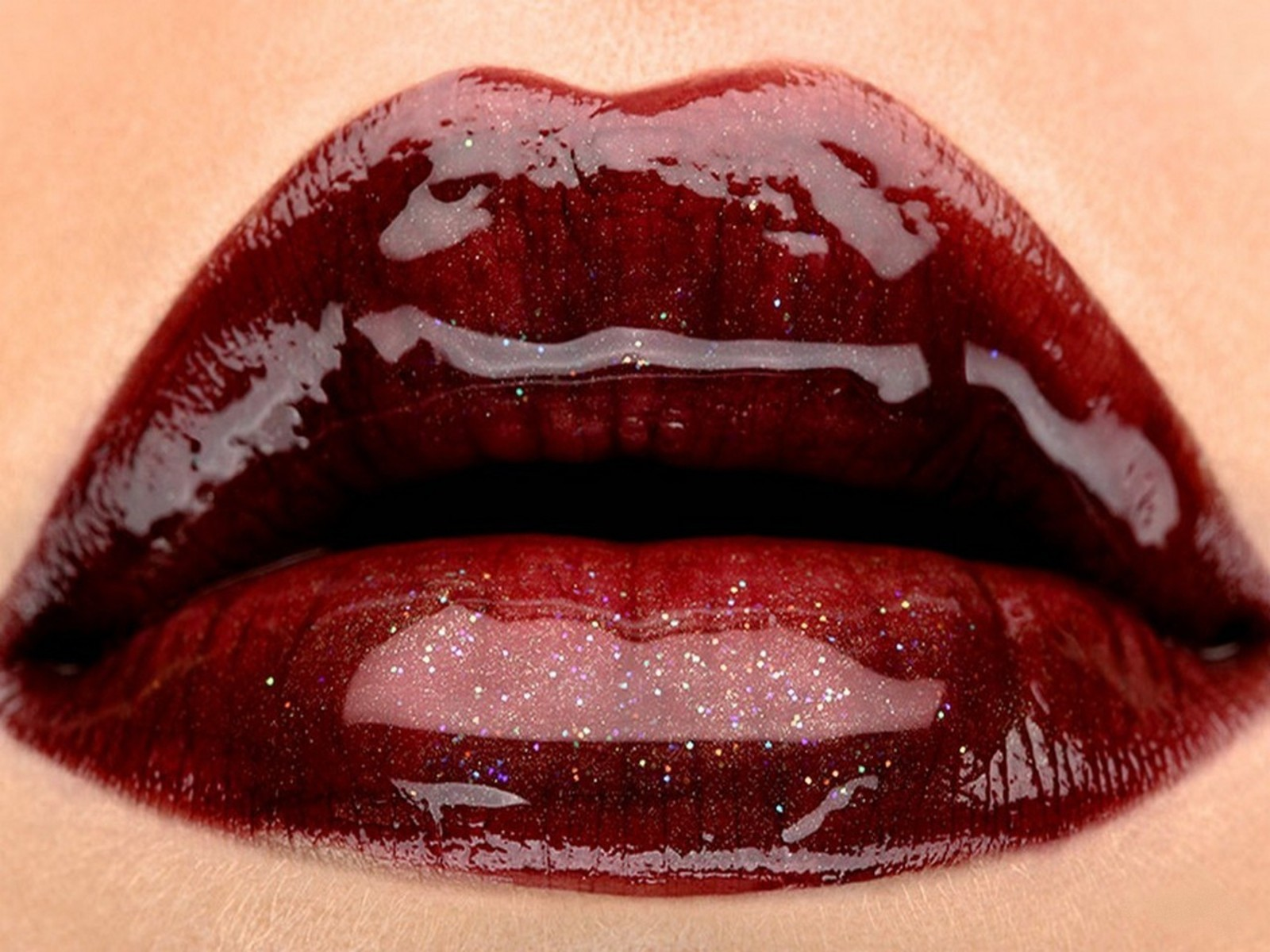 close-up red lips mouth HD Wallpaper