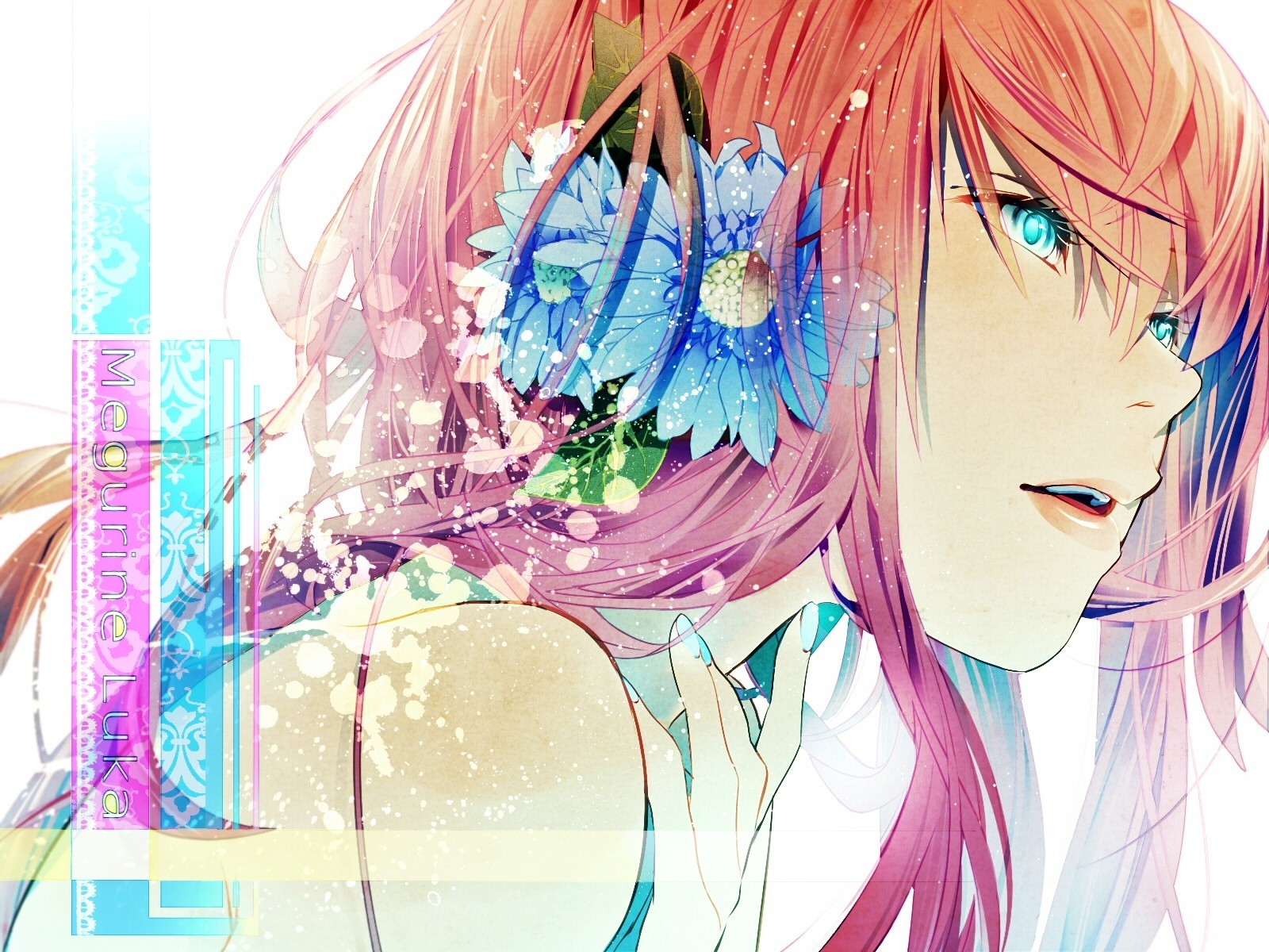 close-up vocaloid text lips HD Wallpaper