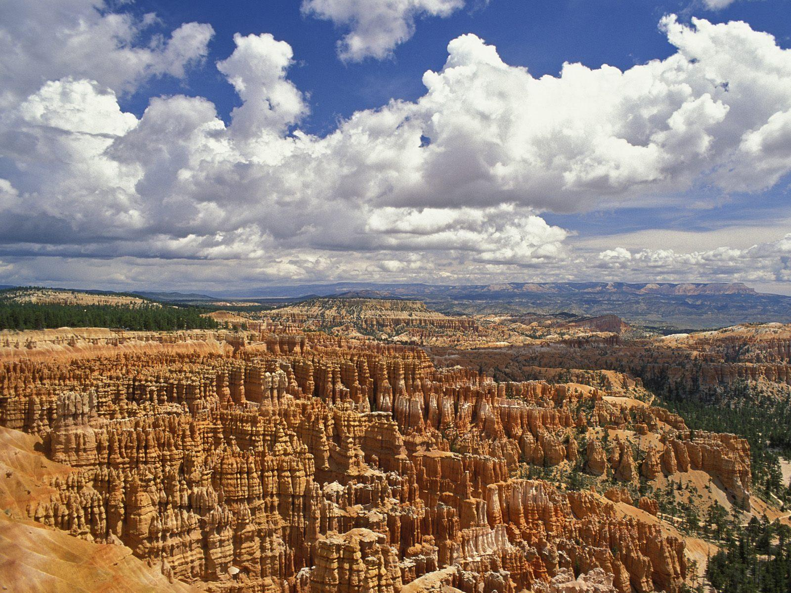 clouds canyon Pillars nature HD Wallpaper