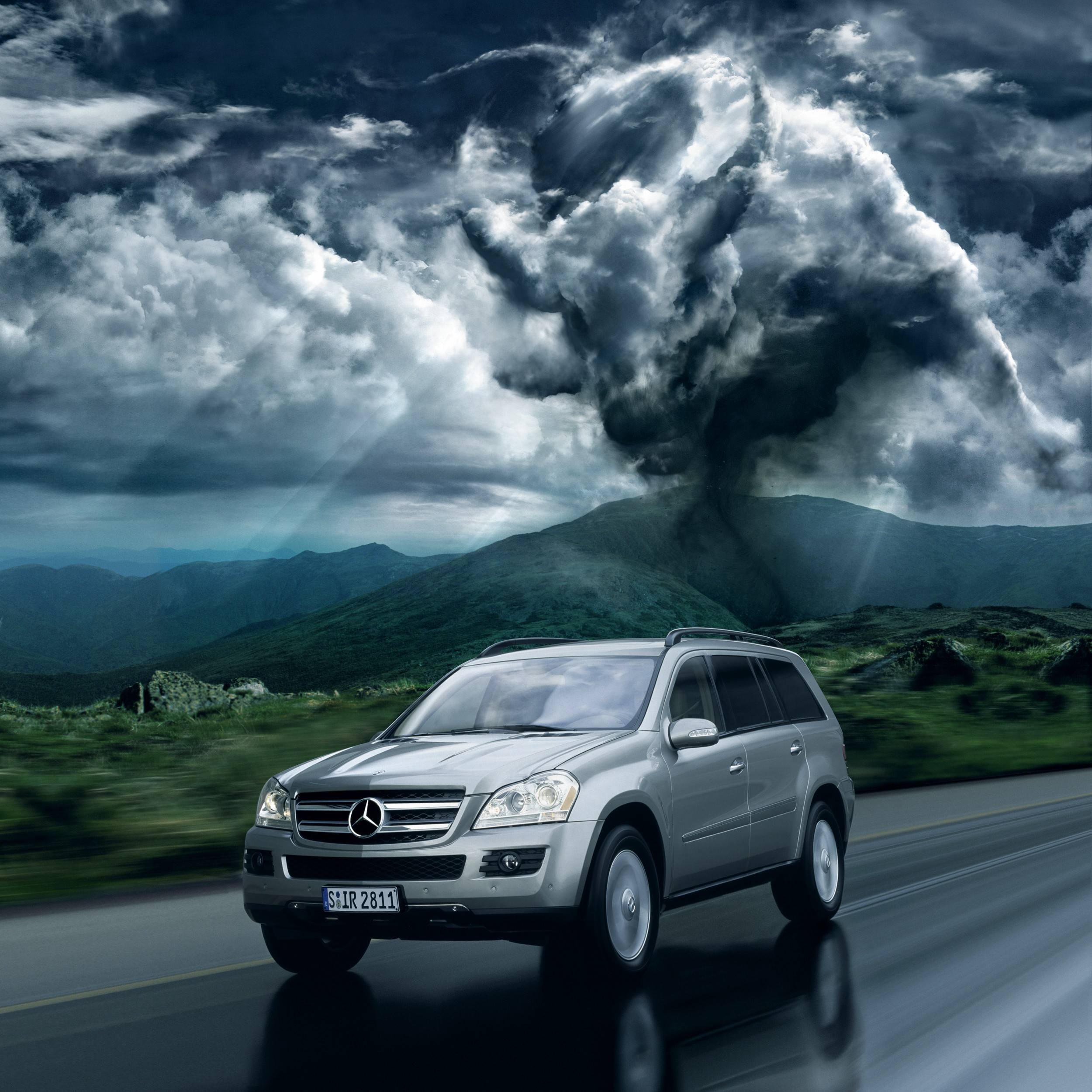 clouds Car cars Mercedes HD Wallpaper