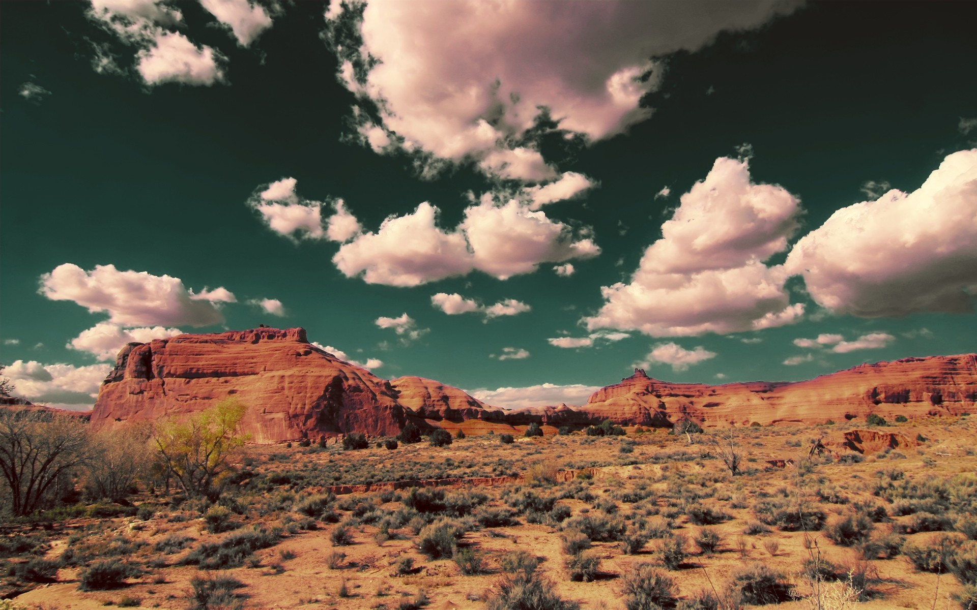 clouds Landscapes deserts HD Wallpaper