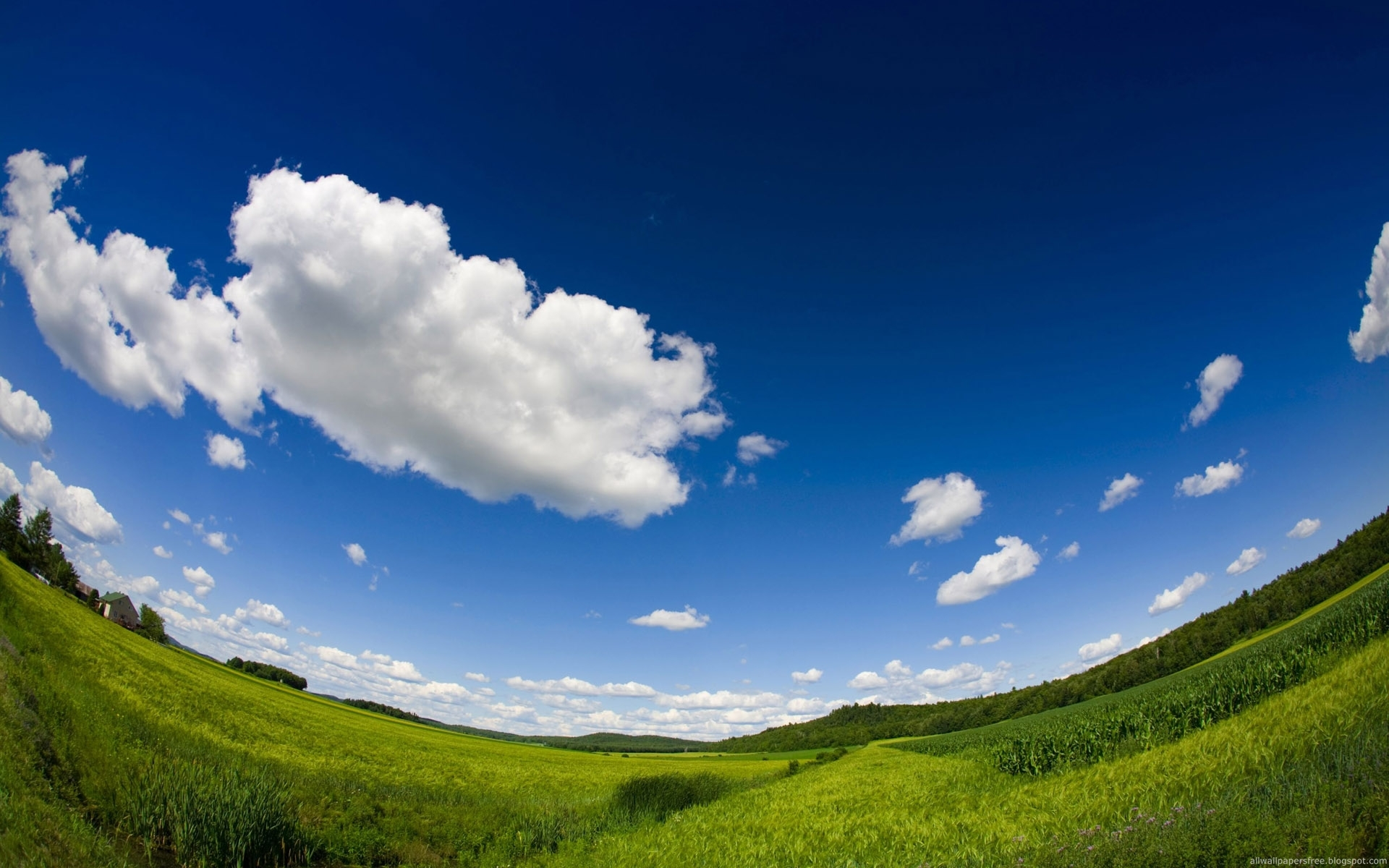 clouds Landscapes nature fisheye HD Wallpaper