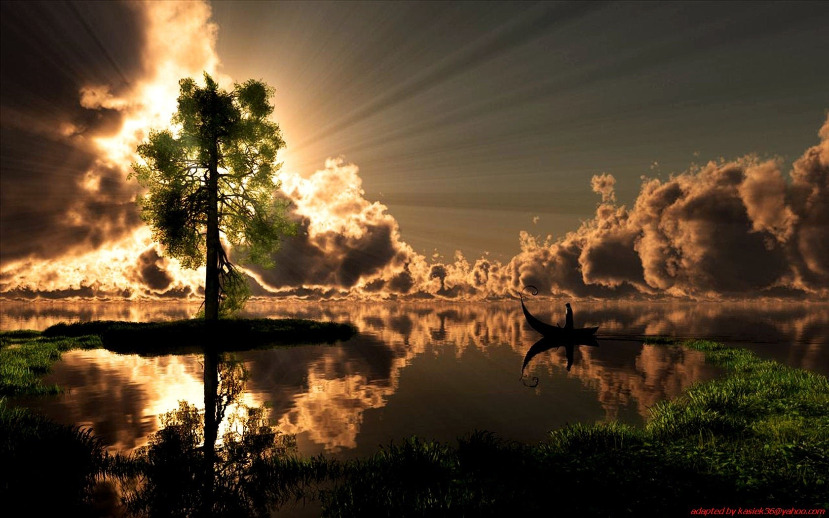 clouds Landscapes nature ponds HD Wallpaper