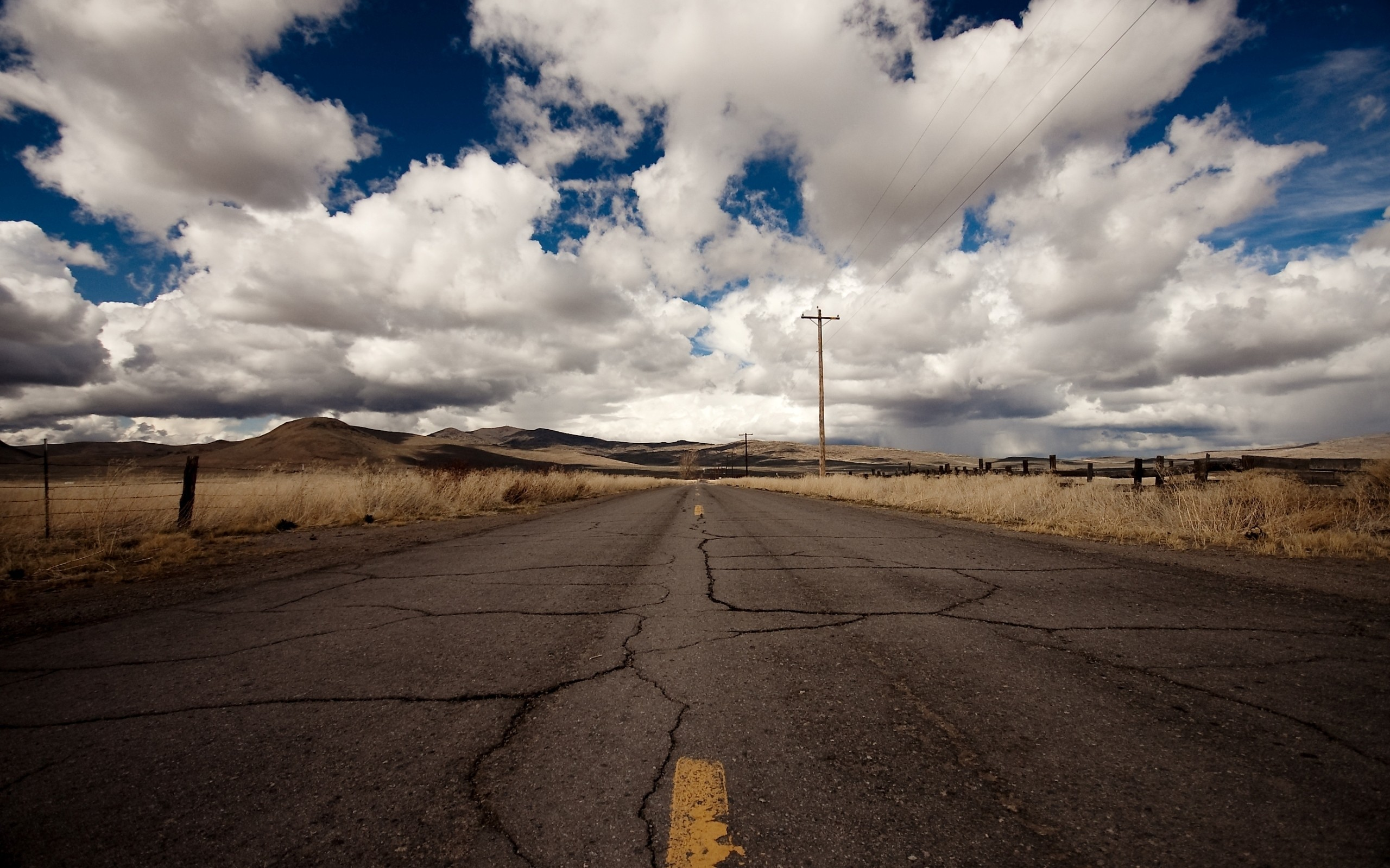 clouds Landscapes roads power HD Wallpaper
