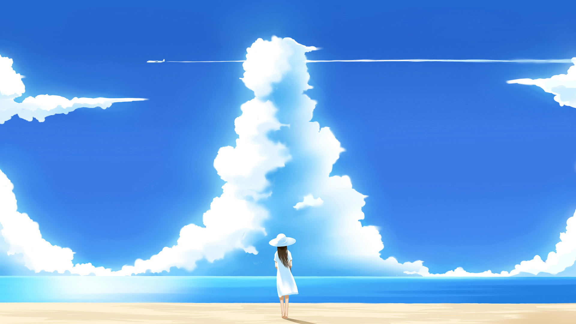 clouds summer lonely skyscapes HD Wallpaper