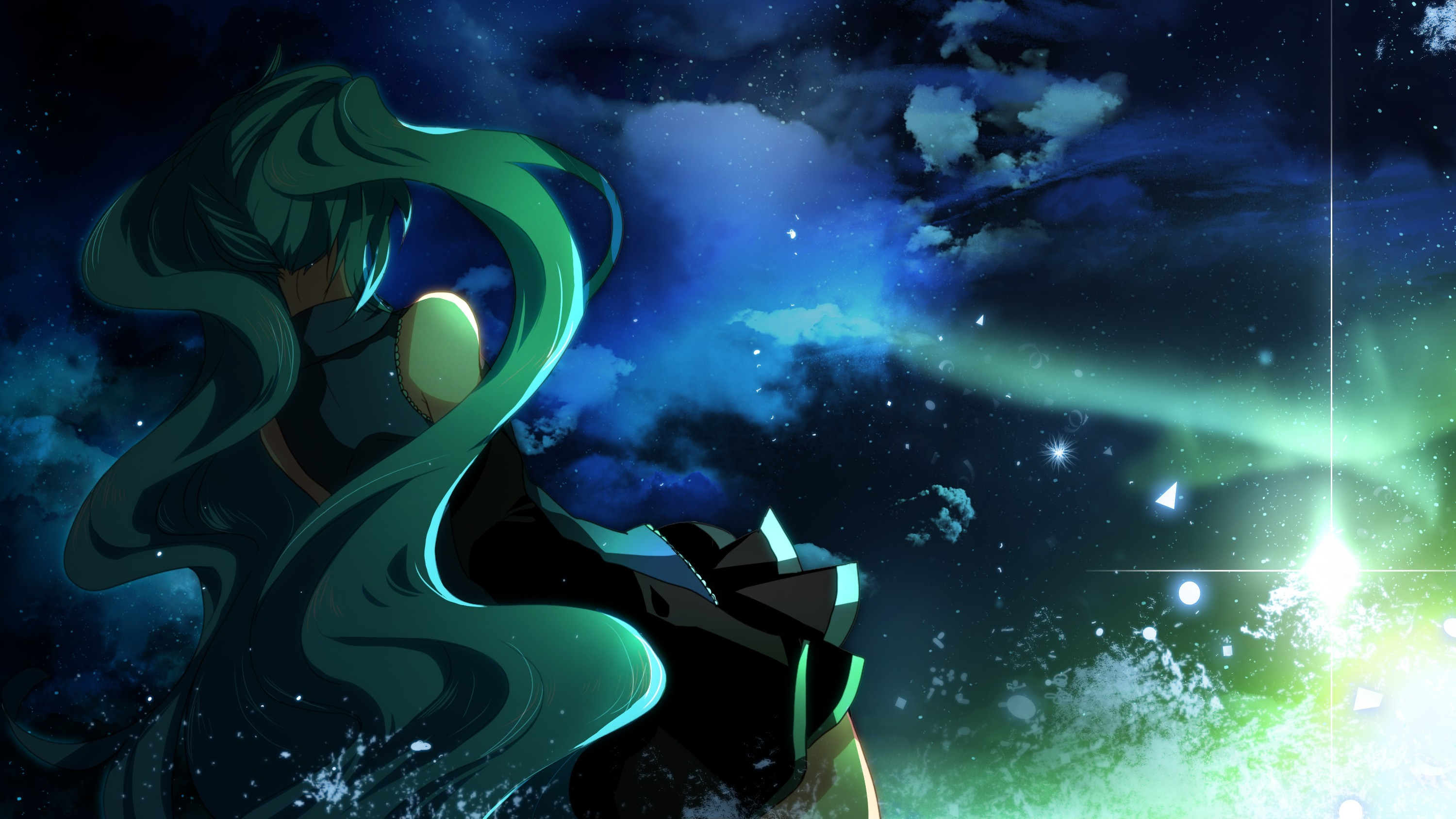 clouds vocaloid Stars hatsune HD Wallpaper