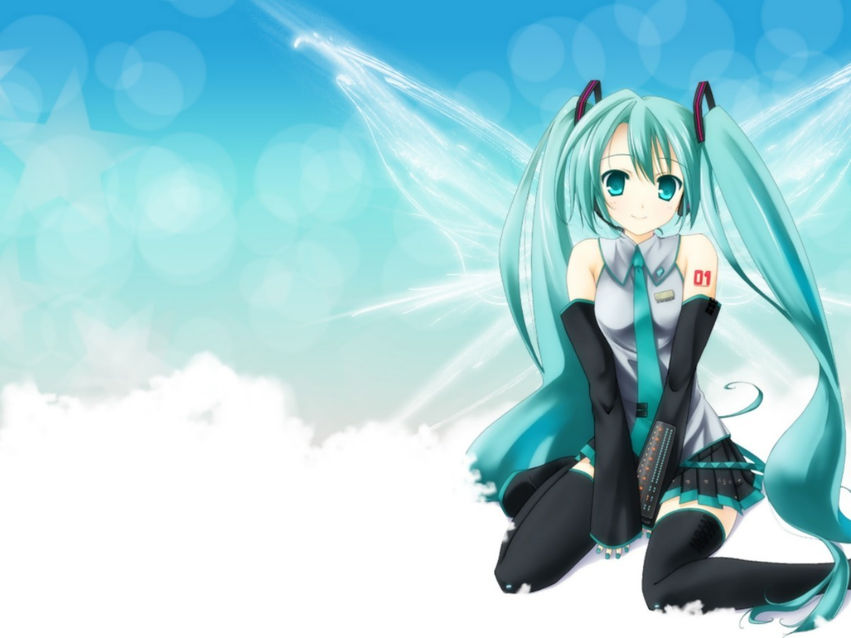 clouds wings vocaloid hatsune HD Wallpaper