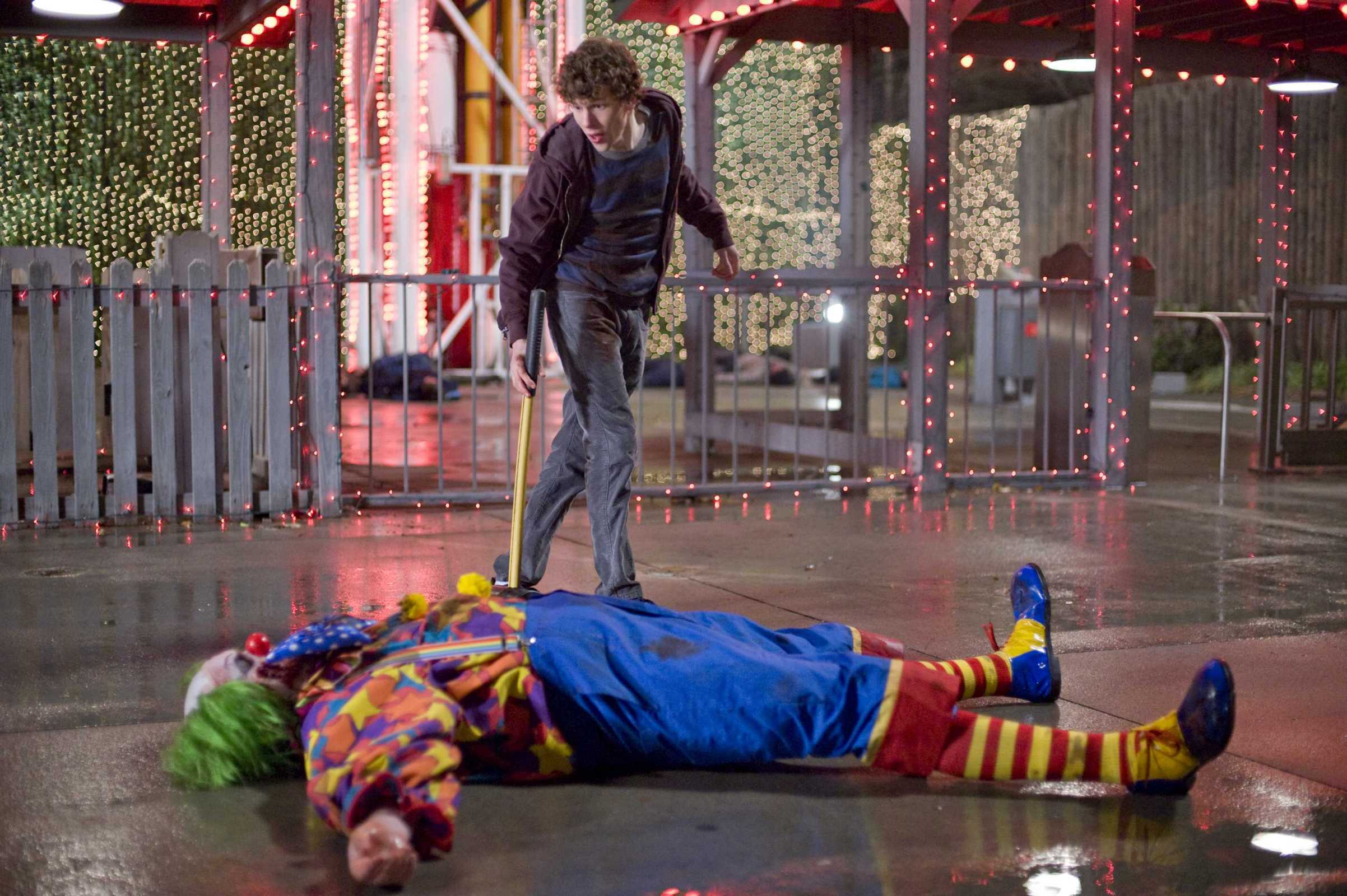 clown Zombieland jesse eisenberg HD Wallpaper