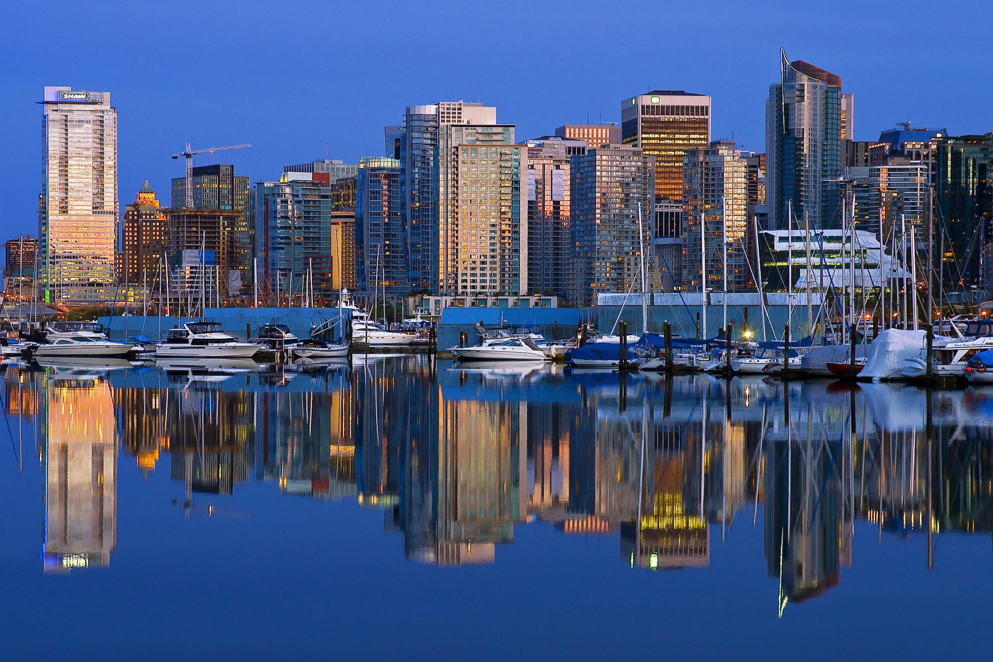 Coal Harbour Downtown vancouver HD Wallpaper