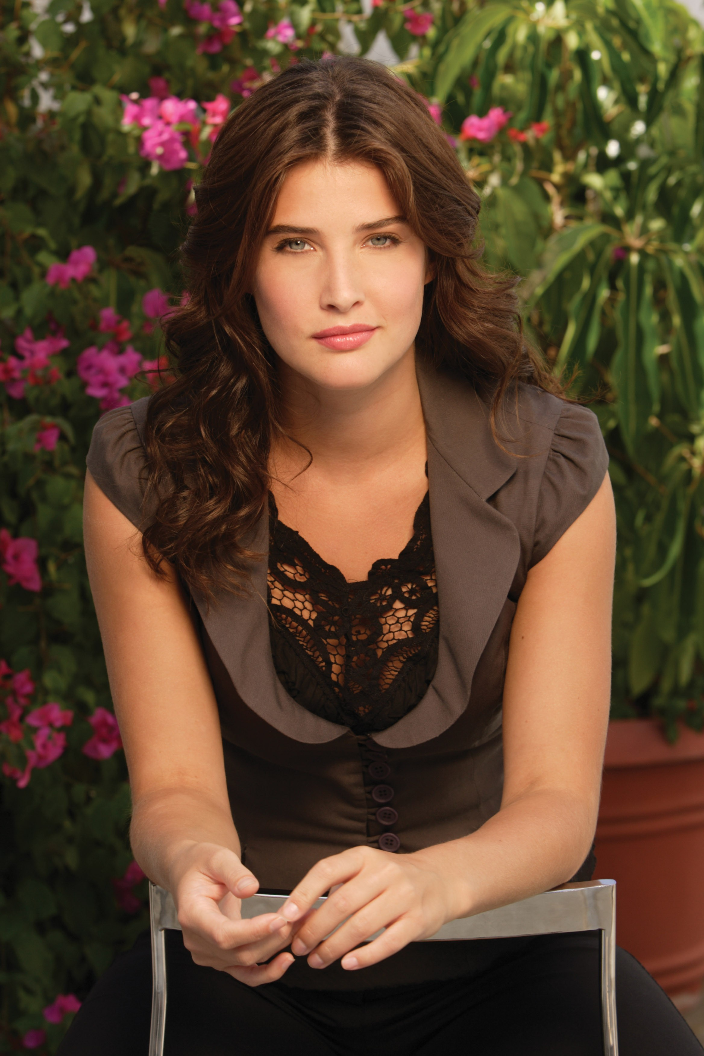 cobie smulders Flowers chairs HD Wallpaper