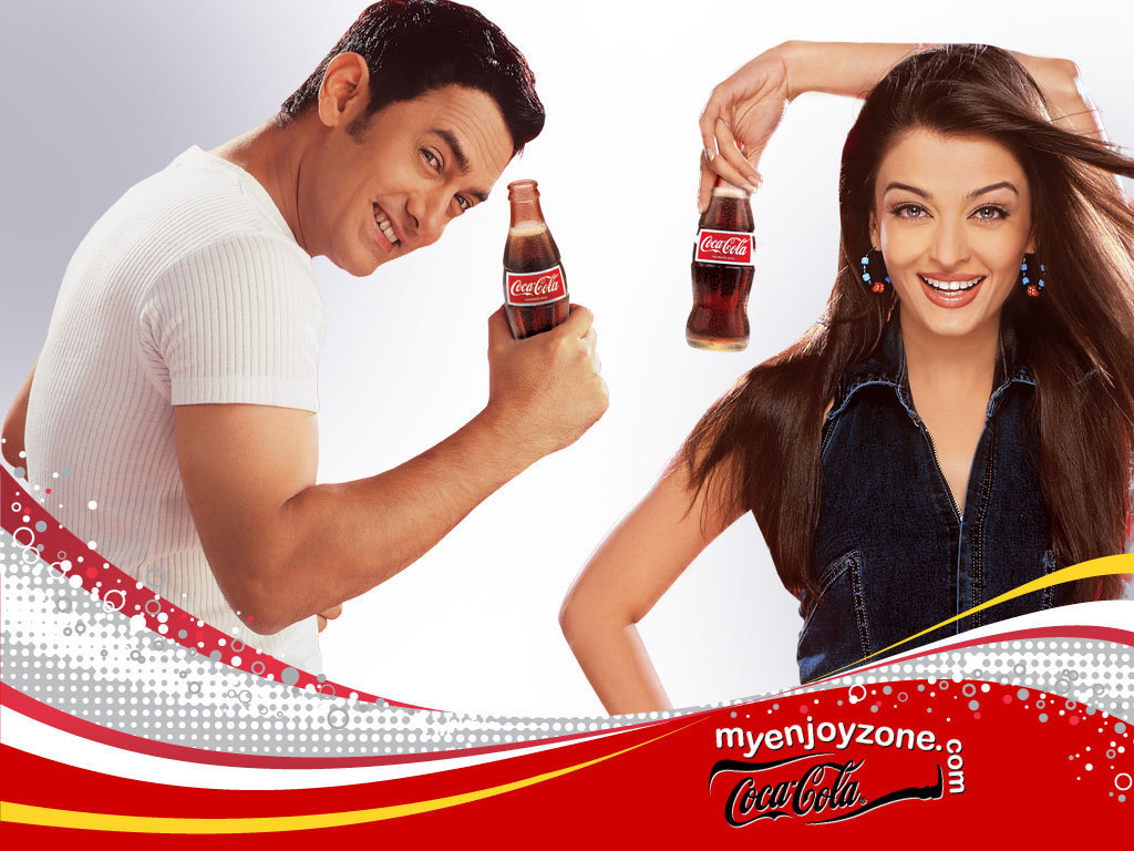 coca-cola aishwarya rai bollywood HD Wallpaper