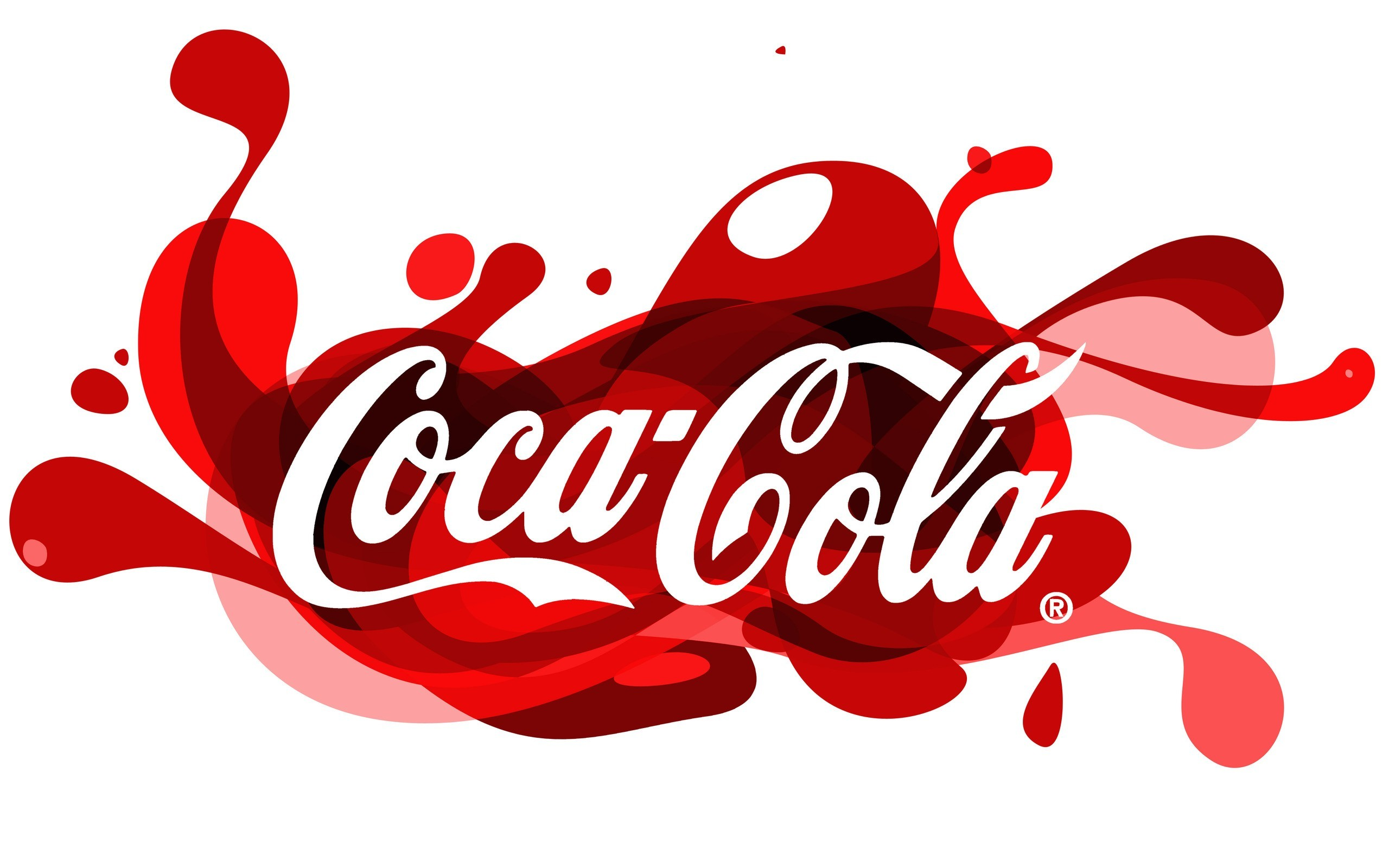 coca-cola logos white background HD Wallpaper