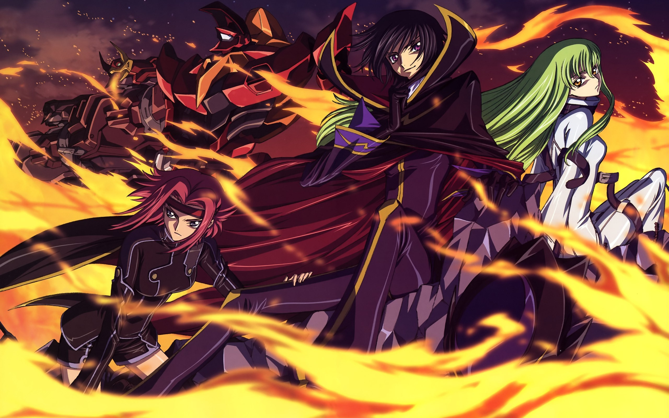 code geass fire mecha HD Wallpaper