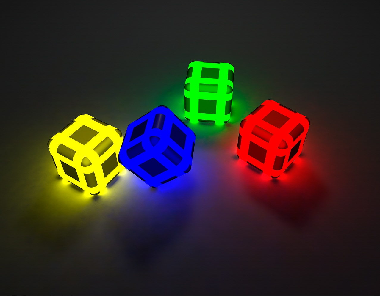 color cubes high HD Wallpaper