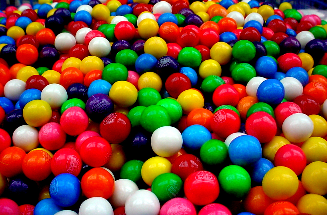colorful candy colors gum