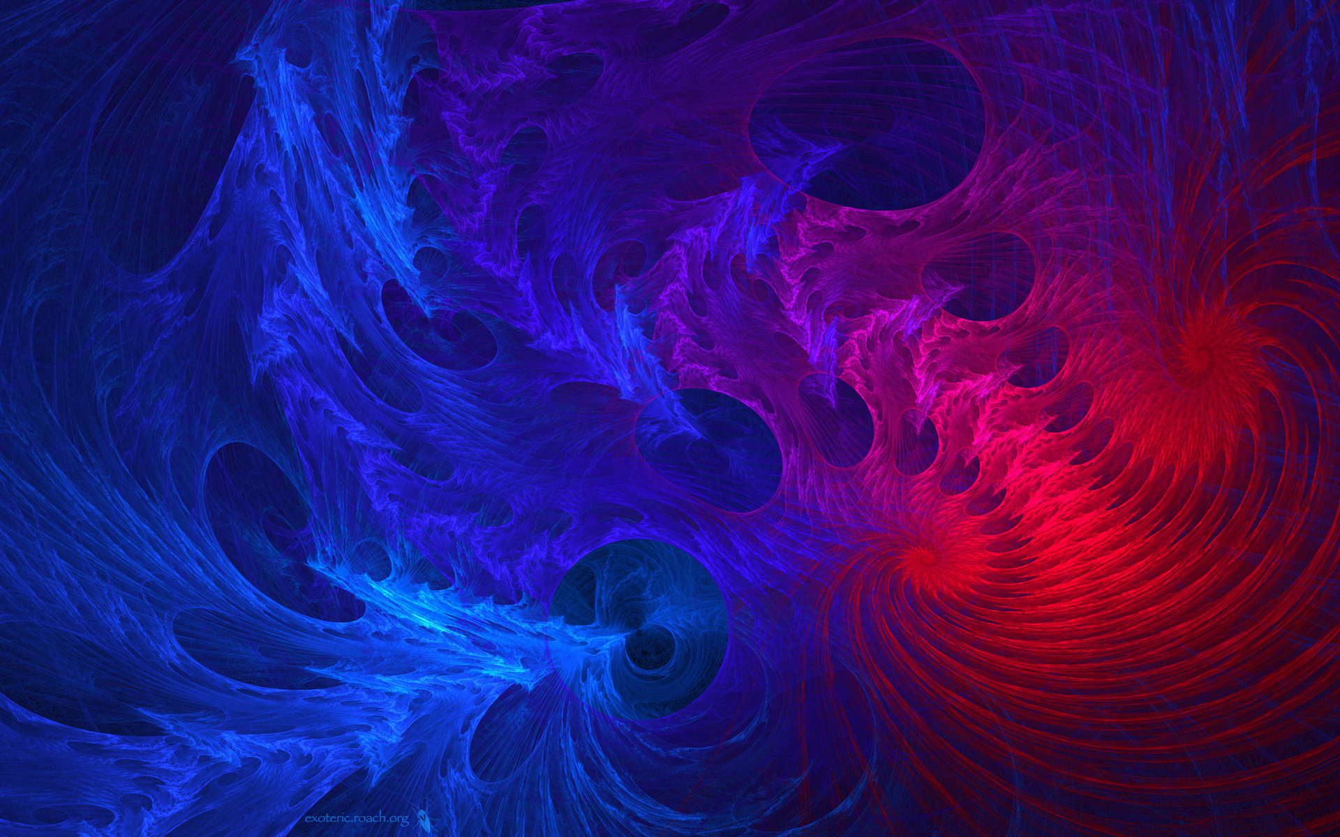 colors fractal blue pink HD Wallpaper