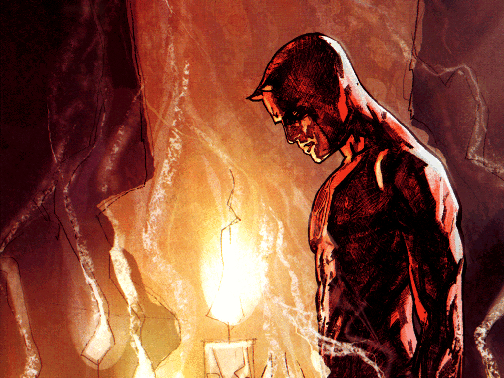 comics daredevil marvel cartoon HD Wallpaper