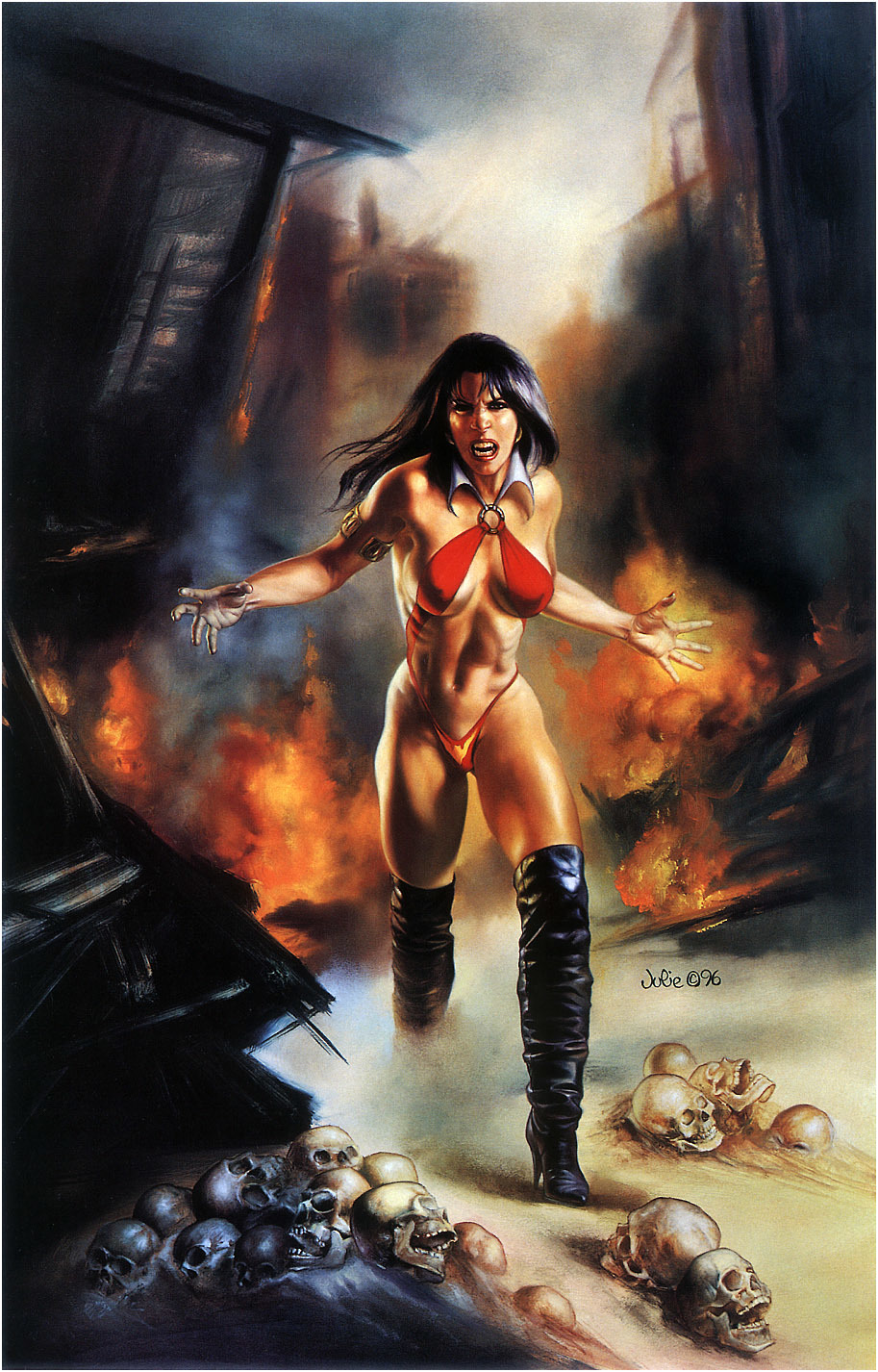 comics Vampirella artwork Julie HD Wallpaper