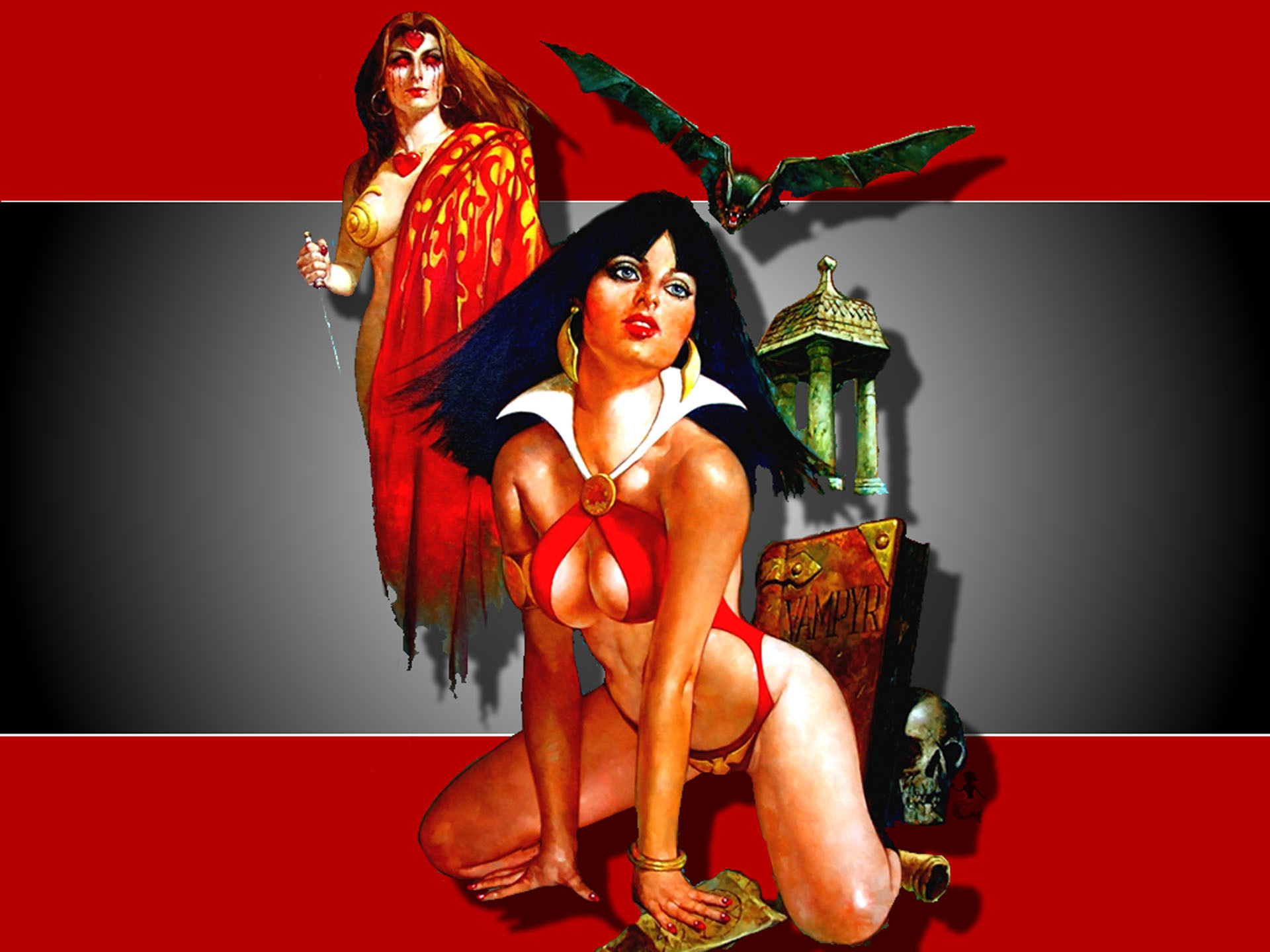 comics Vampirella heroine comic HD Wallpaper
