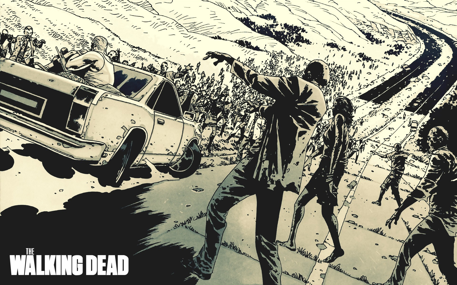 comics zombies the walking HD Wallpaper