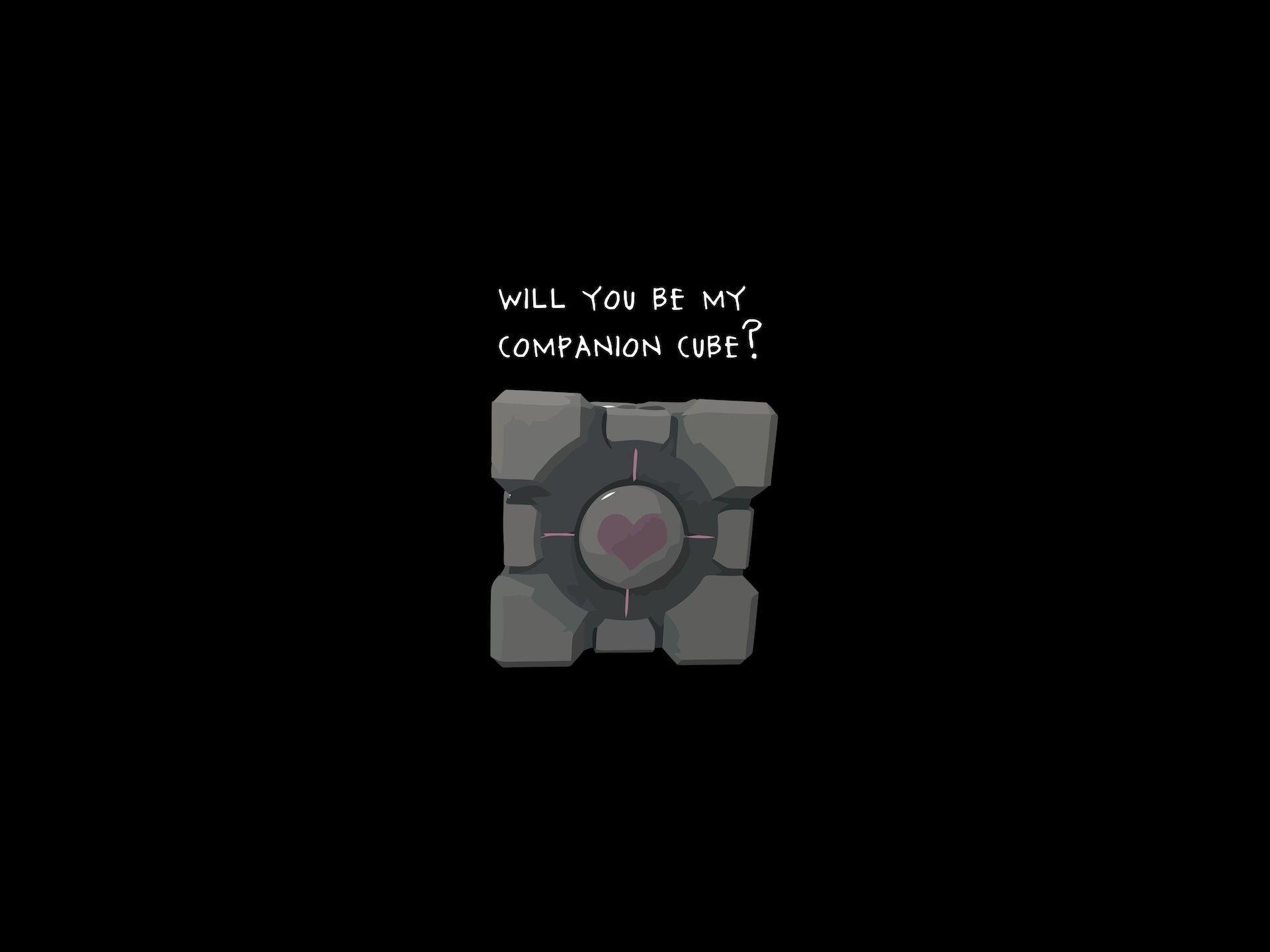 Companion Cube HD Wallpaper