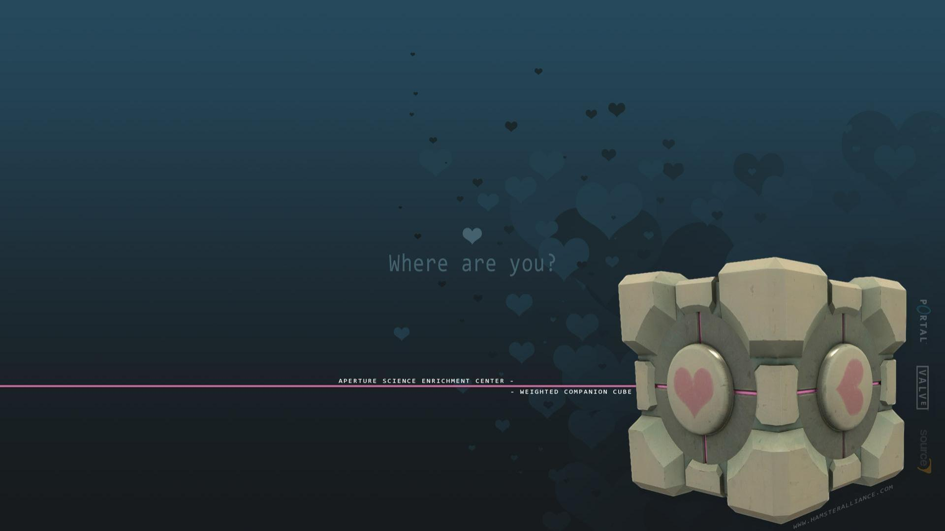 Companion Cube valve corporation HD Wallpaper
