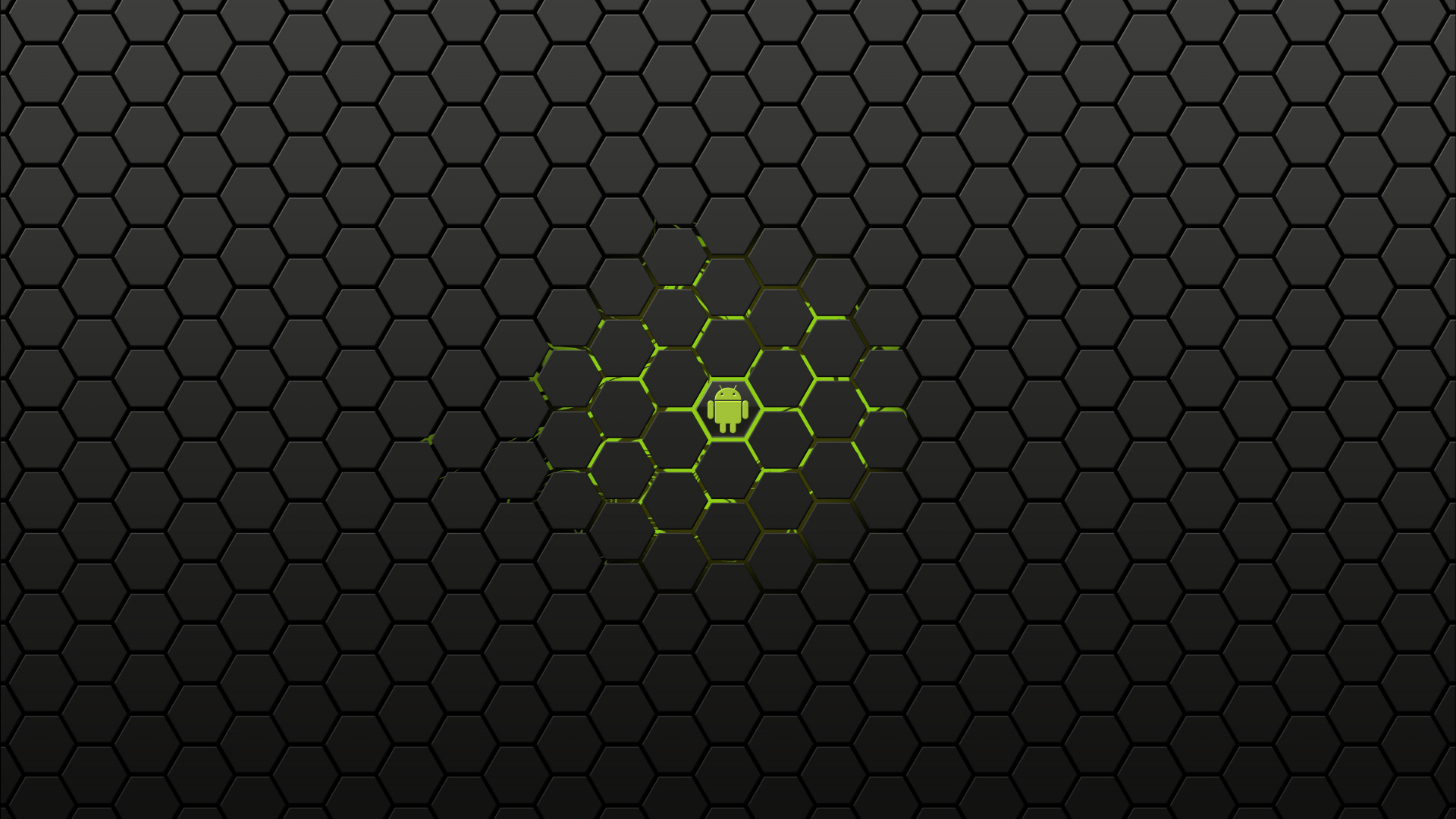 computer android Green power HD Wallpaper
