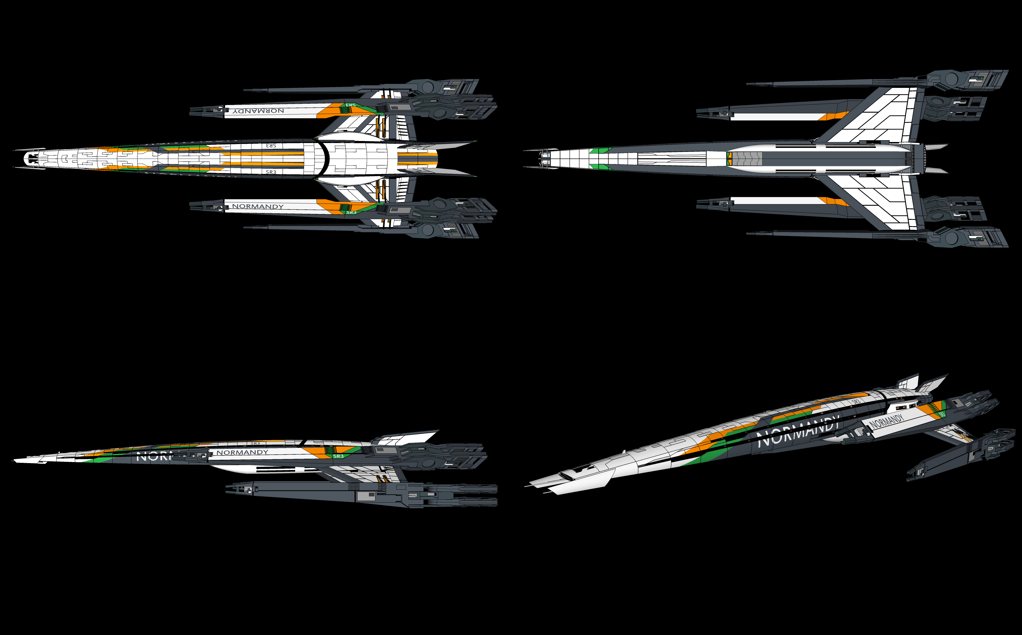Concept mass effect normandy HD Wallpaper