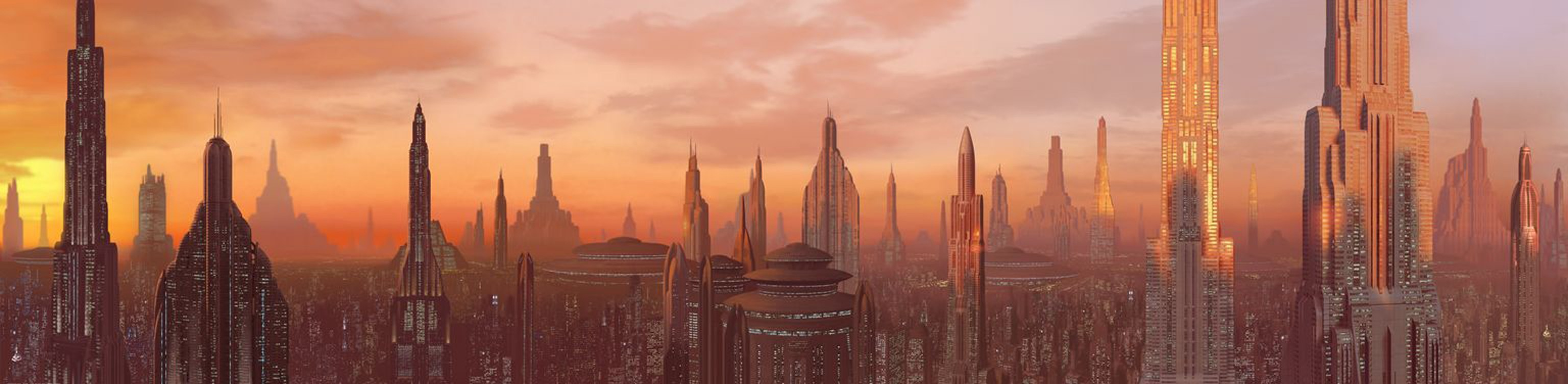 Coruscant skyline high Car HD Wallpaper