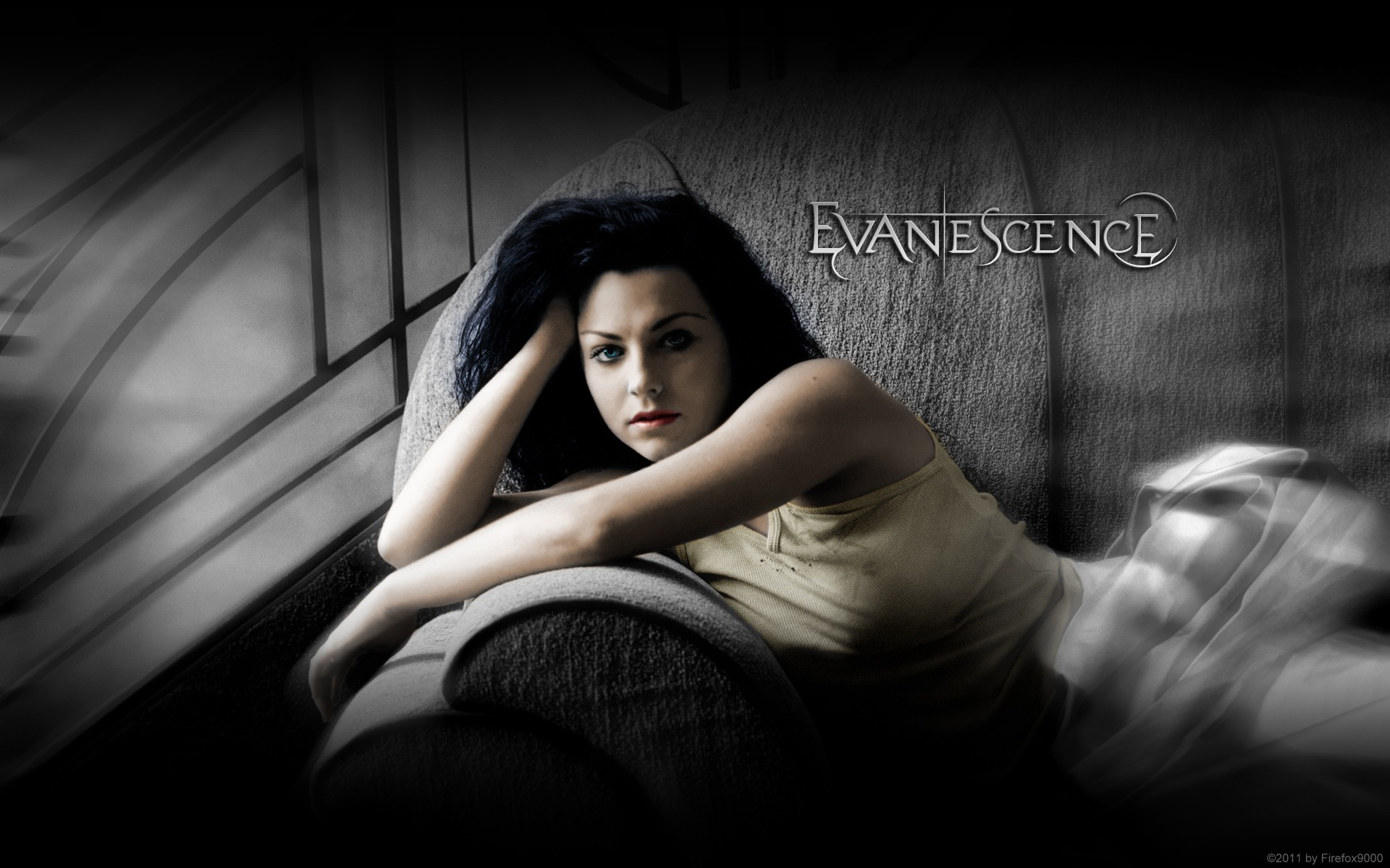 couch amy lee evanescence HD Wallpaper