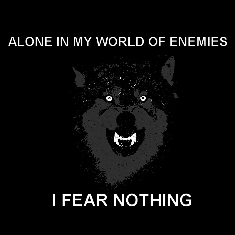 courage wolf motivational posters HD Wallpaper