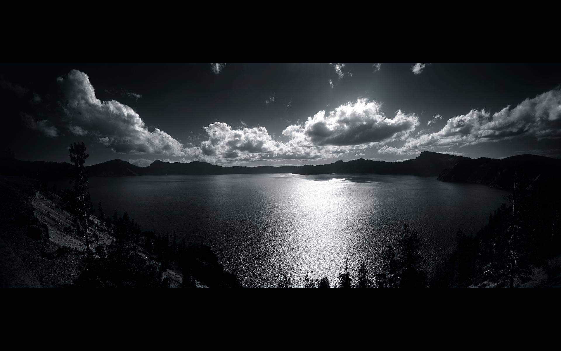crater Lake West nature HD Wallpaper