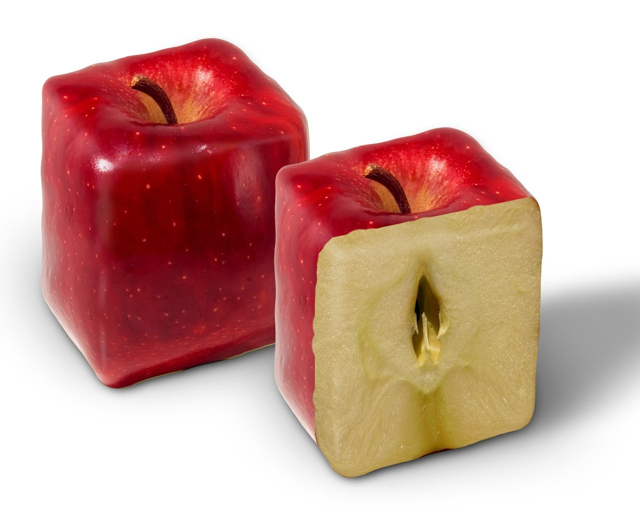 cubes apples HD Wallpaper