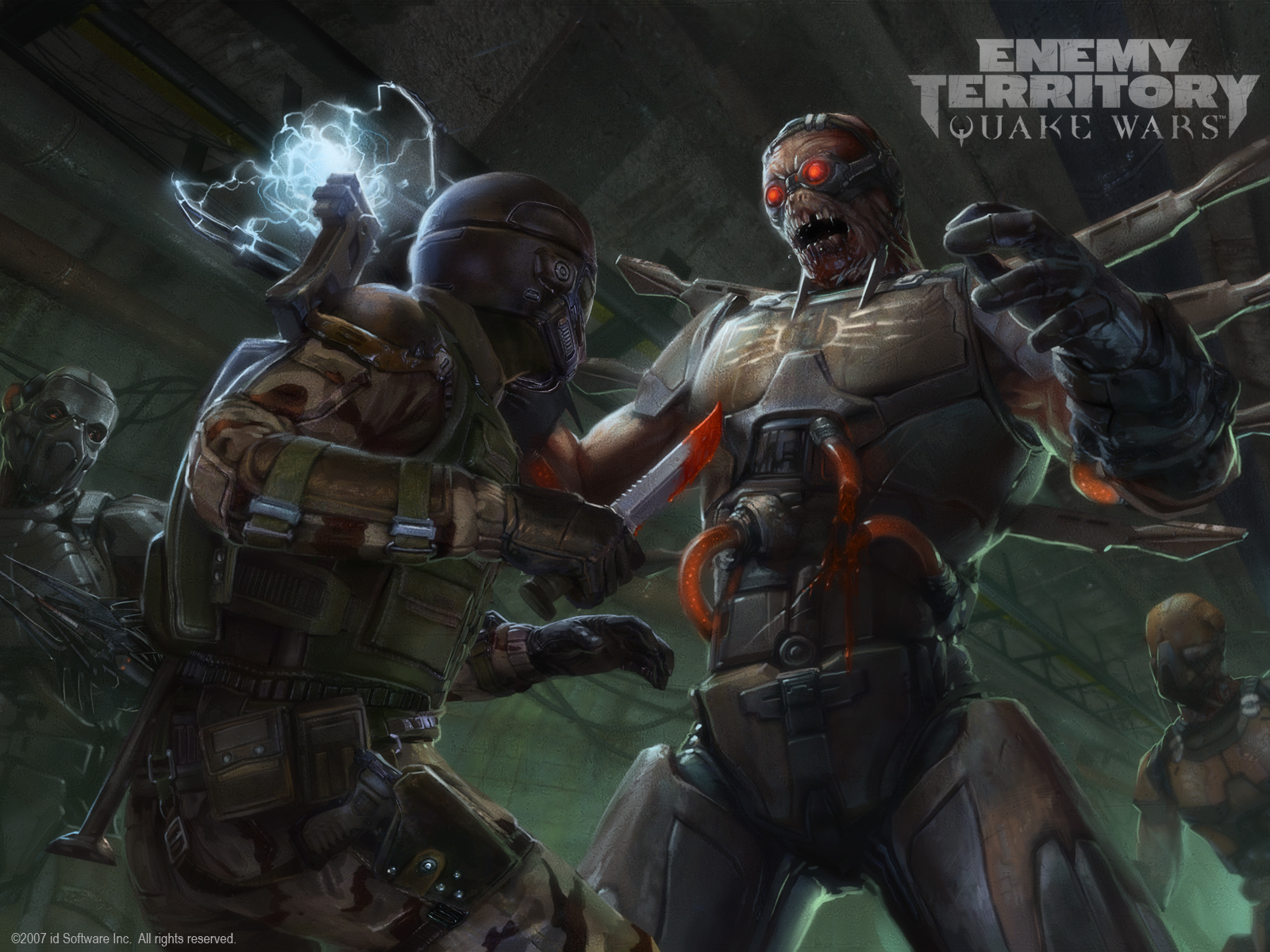 cyborg game cyborgs quake HD Wallpaper