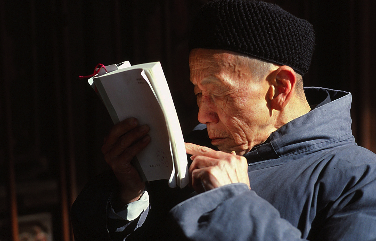 daoist man reading high
