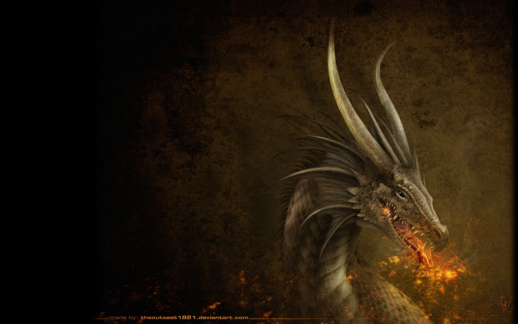 dark Dragons fire myst HD Wallpaper