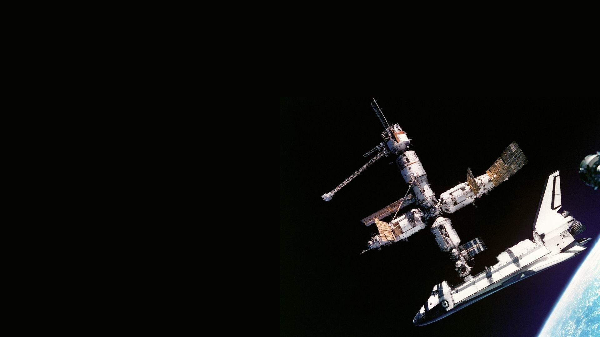 dark International Space Station HD Wallpaper