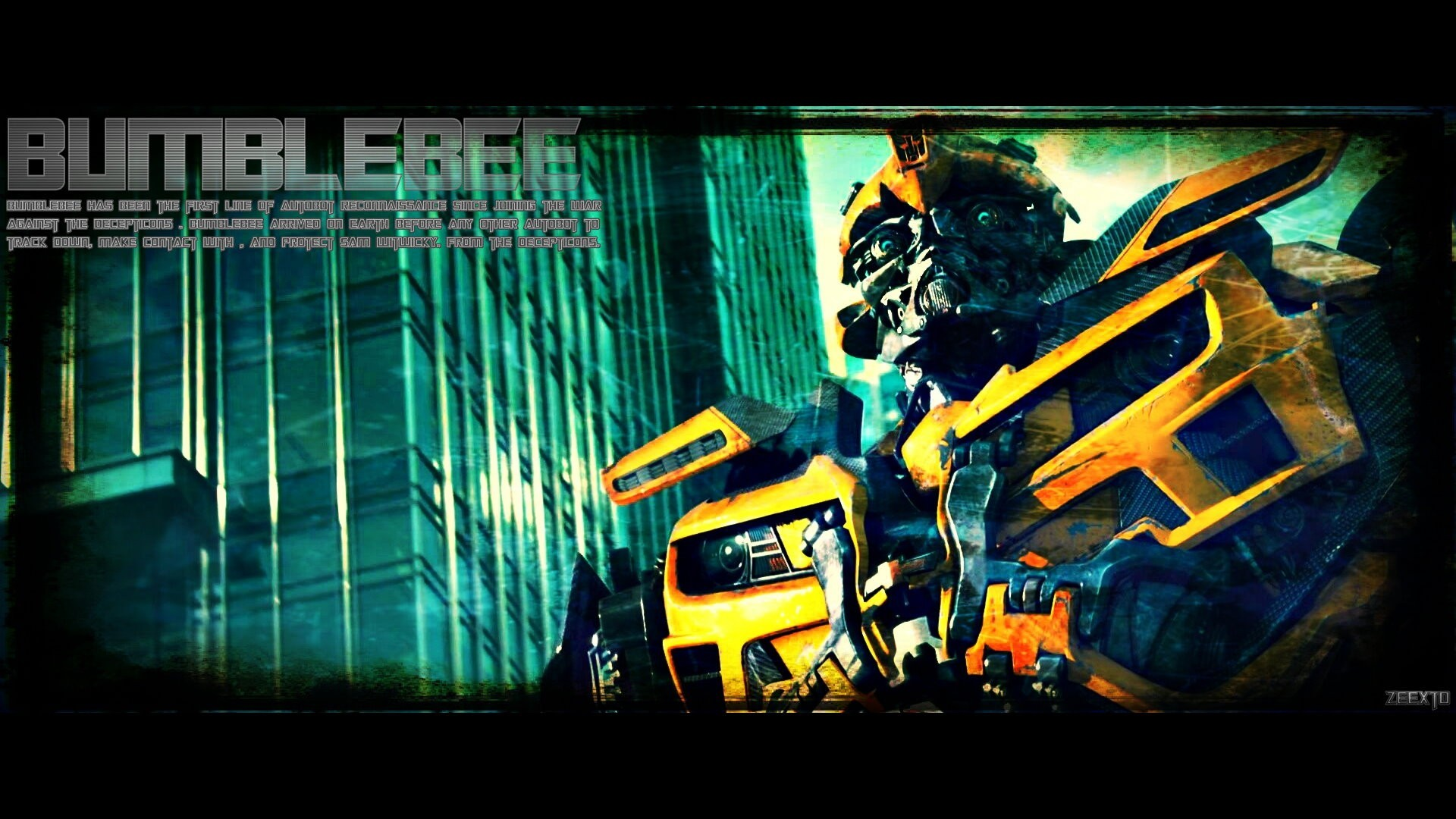 dark moon Robots Transformers bumblebee HD Wallpaper