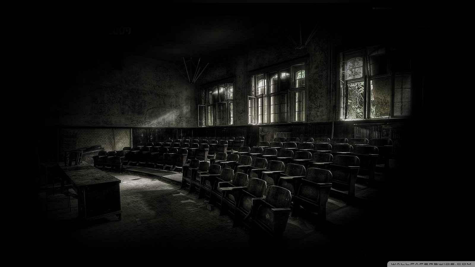 dark vintage abandoned HD Wallpaper