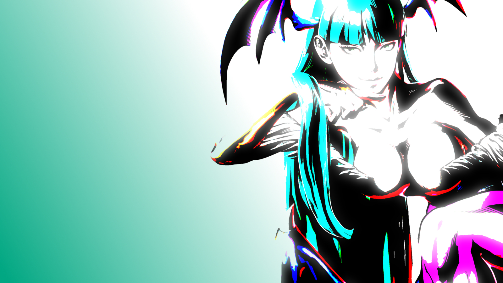 Darkstalkers Morrigan Aensland HD Wallpaper