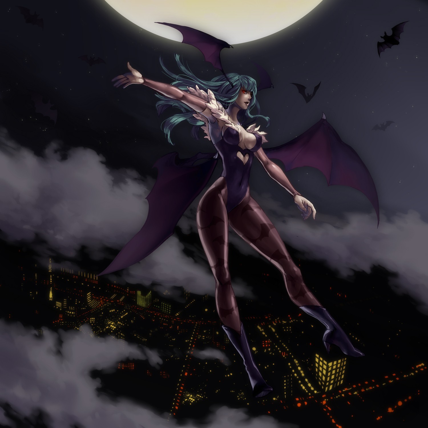 Darkstalkers morrigan Succubus Morrigan HD Wallpaper