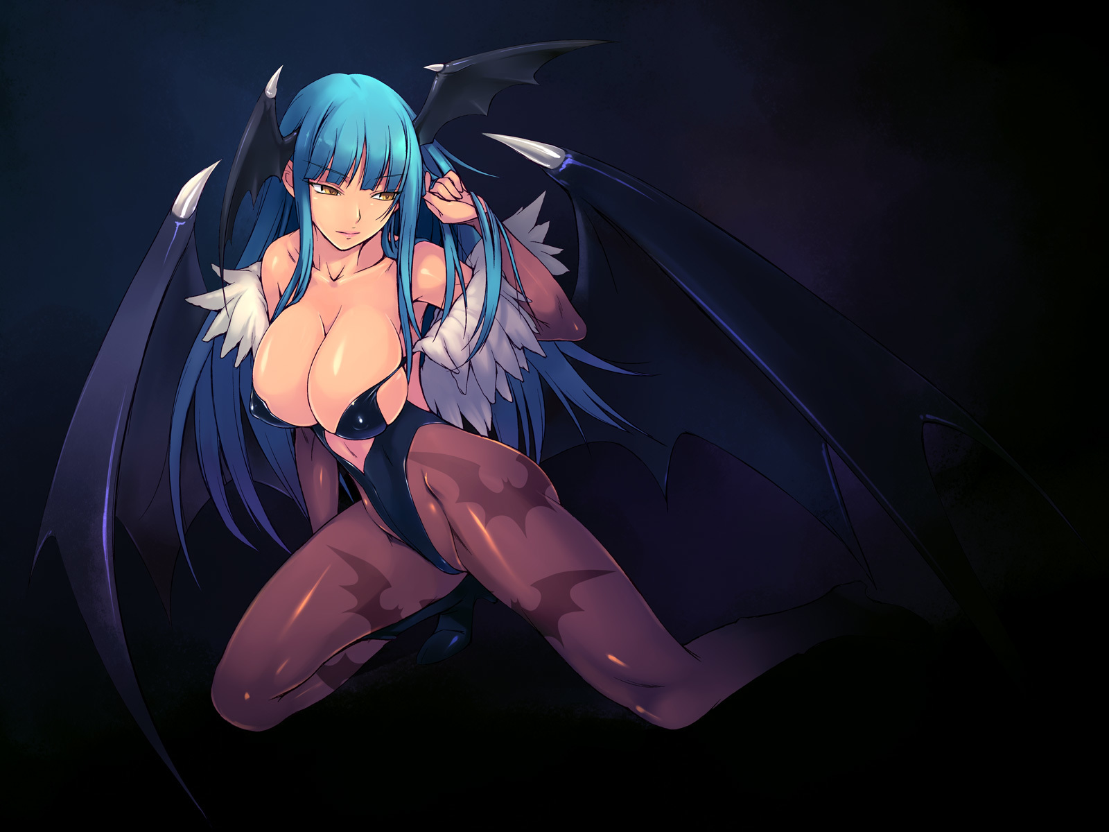 Darkstalkers video games Morrigan HD Wallpaper