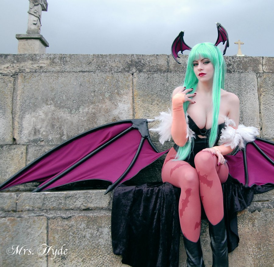 Darkstalkers woman cosplay Morrigan HD Wallpaper