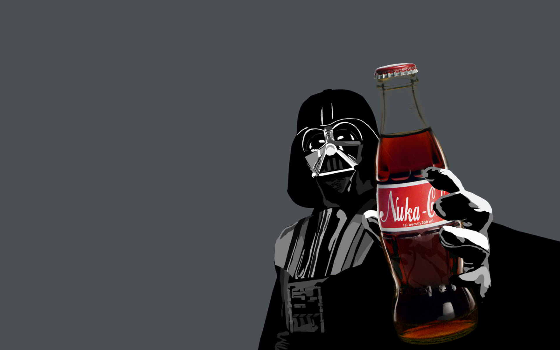 darth Vader nuka cola HD Wallpaper