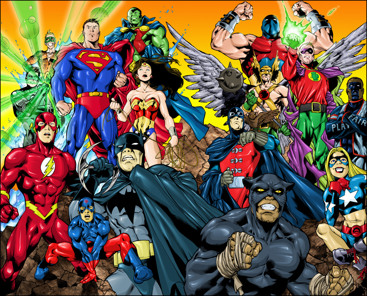 dc comics comics Justice HD Wallpaper