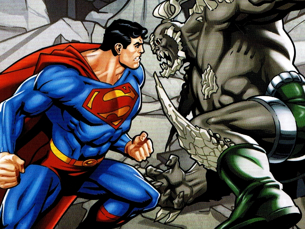 superman vs doomsday wallpaper