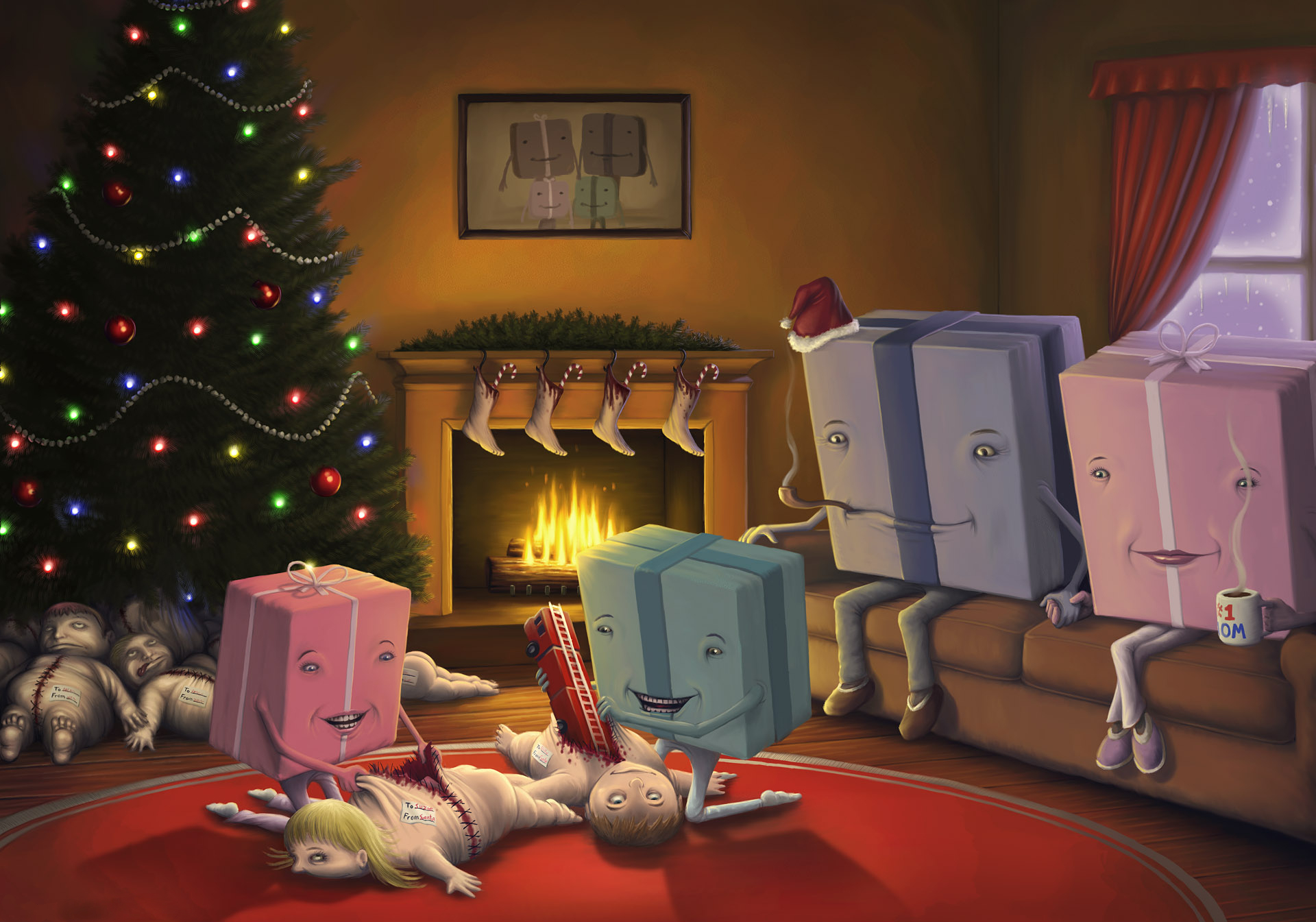 dead Kids Christmas disturbing HD Wallpaper