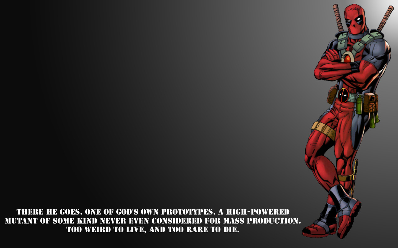 deadpool quote wp HD Wallpaper
