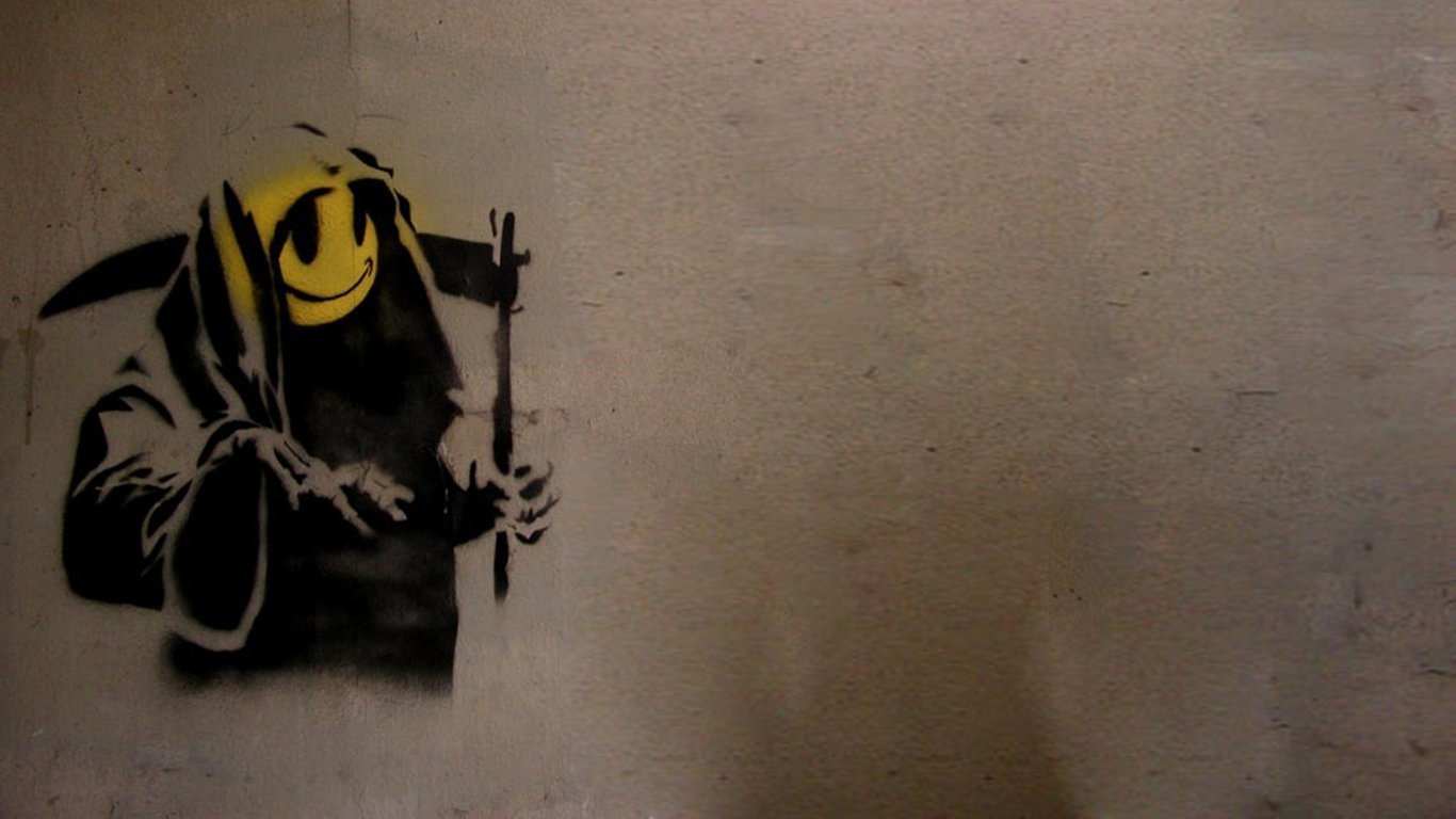 death graffiti smiley HD Wallpaper