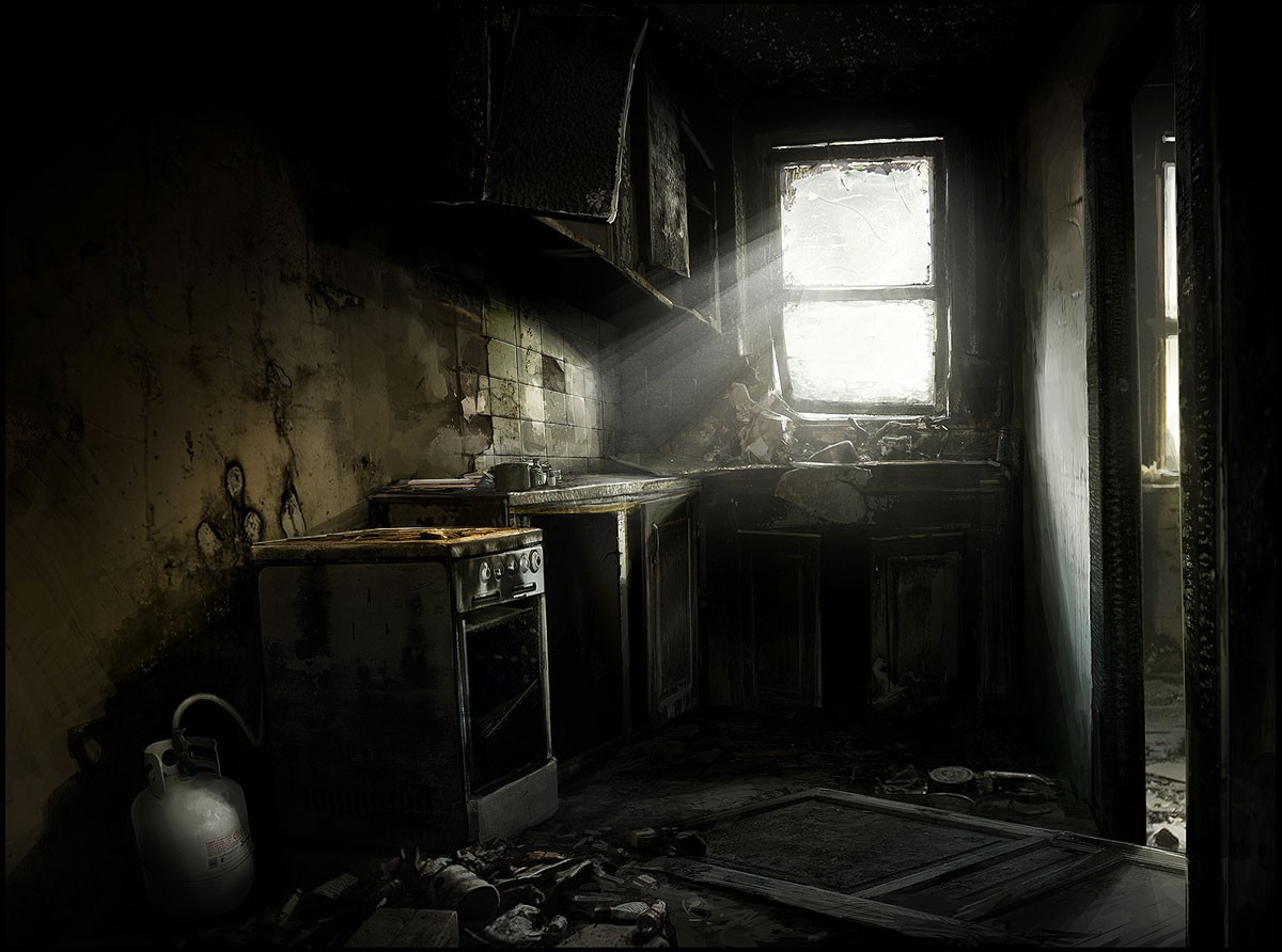 decay interior heavy rain HD Wallpaper